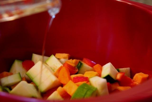 Uso durante la cocción al Verduras