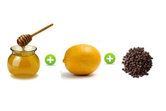 limón, miel y pimienta Negro