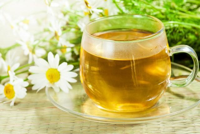 El té de manzanilla