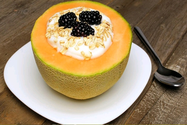 El yogur enriquecido Cantaloupe