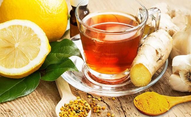 La cúrcuma té de limón