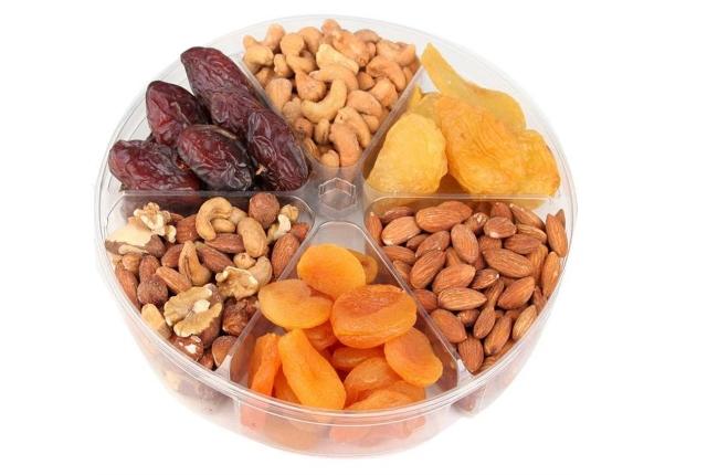 Los frutos secos y frutas secas