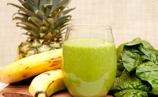 alcalina, manzana, plátano y bróculi