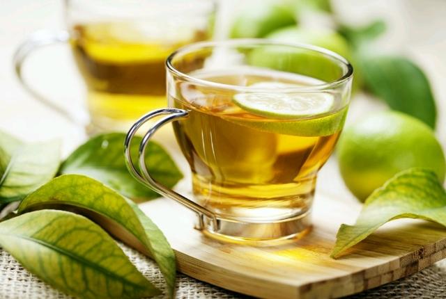 caliente de té verde