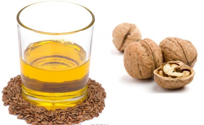 Aceite de linaza y nueces