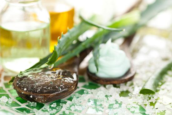 Beneficios para la salud de Aloe Vera y aceite de coco