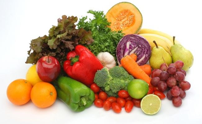 Coma frutas y verduras
