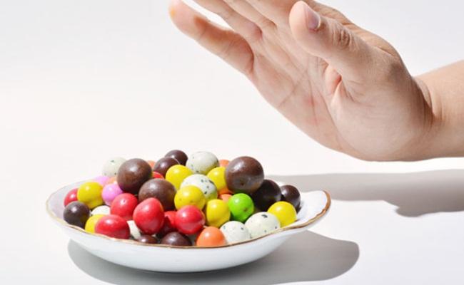 Evitar alimentos dulces