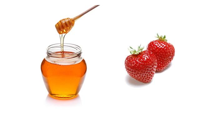 Fresa Y El tratamiento del acné Miel