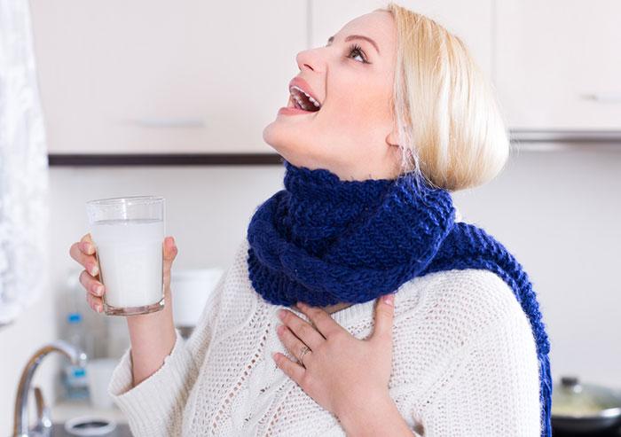Gargarismo de agua salada