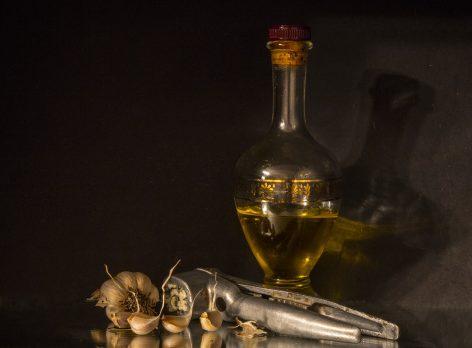 Gotas de aceite de ajo