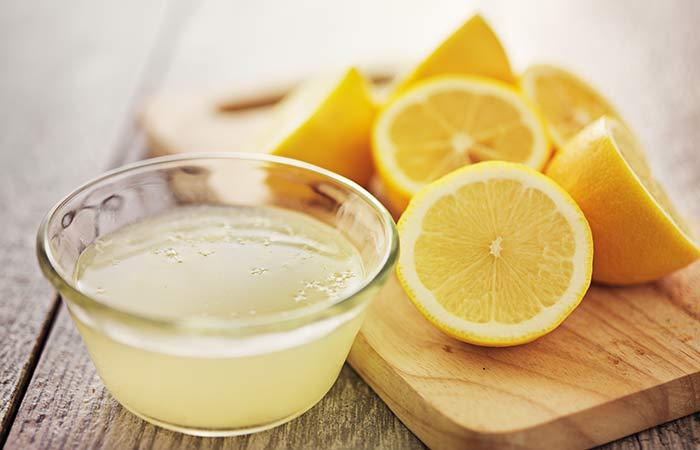Jugo de limón Masaje