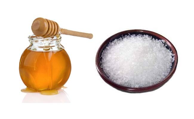 La sal y miel para el tratamiento del acné