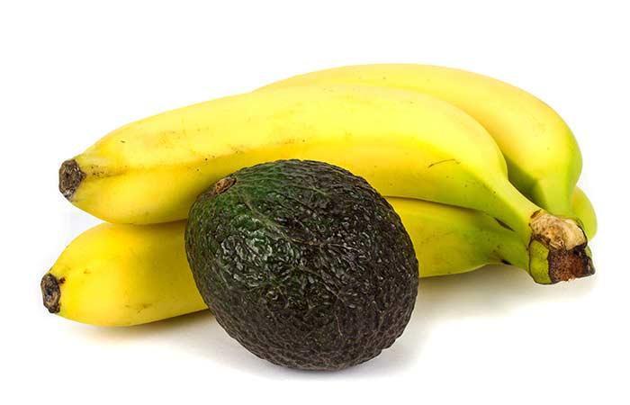 Mascarilla de aguacate y del plátano de pelo