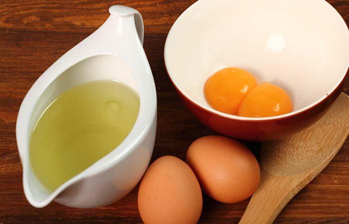 Yema de huevo, aceite de oliva y la vitamina E de la máscara