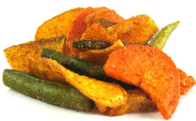 chips de verduras envasadas