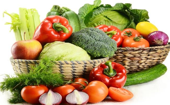Un montón de verduras