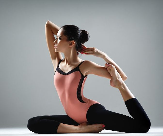 Yoga para las piernas largas, magra