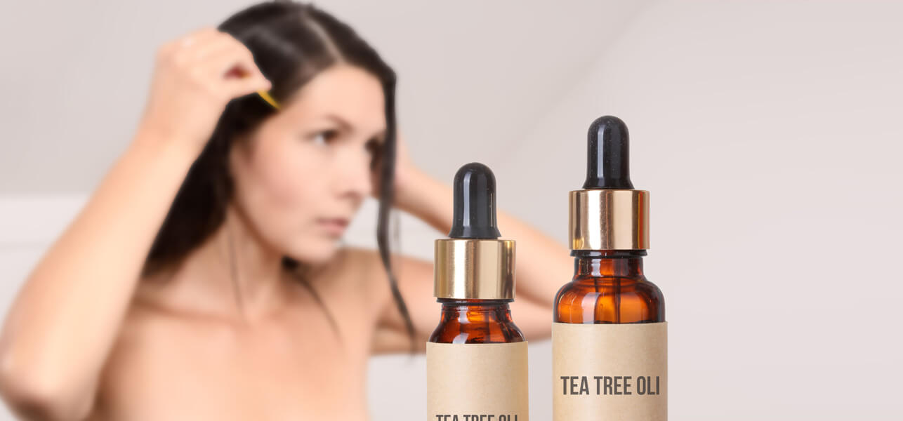 Aceite del árbol del té para los piojos principales