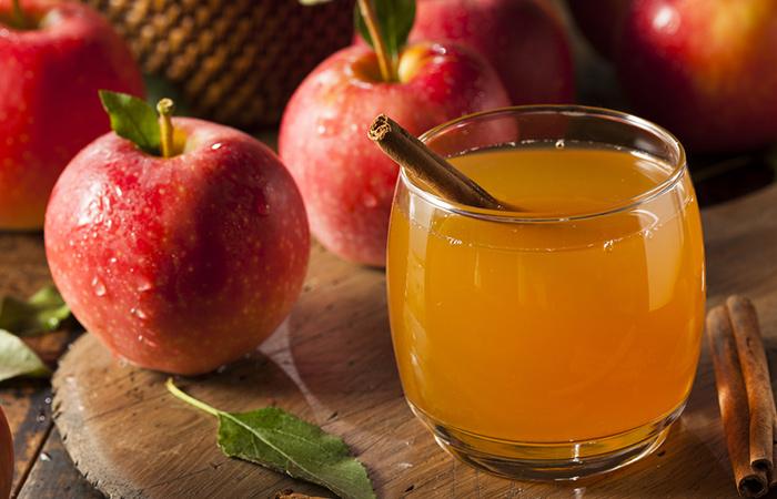 Enjuague de acondicionamiento de vinagre de sidra de manzana
