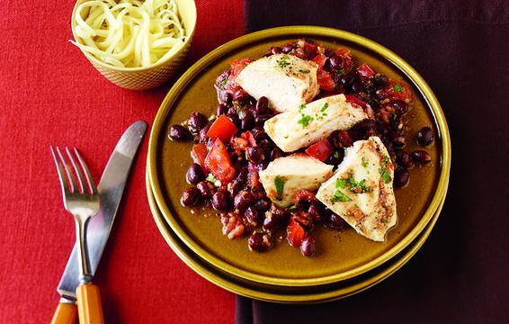 Crockpot pollo marroquí con aceitunas