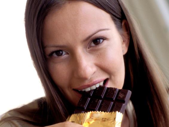 Mordisquear en chocolate