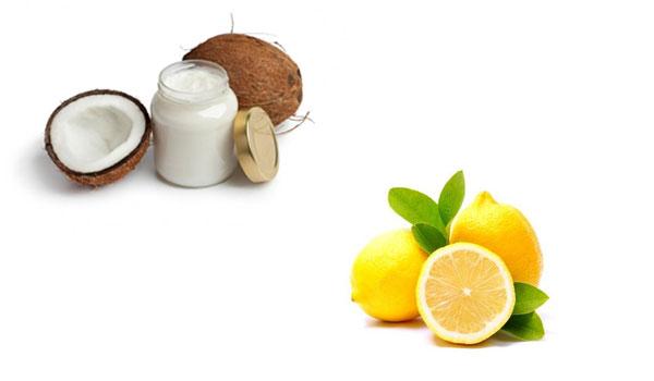 Aceite de coco y jugo de limón