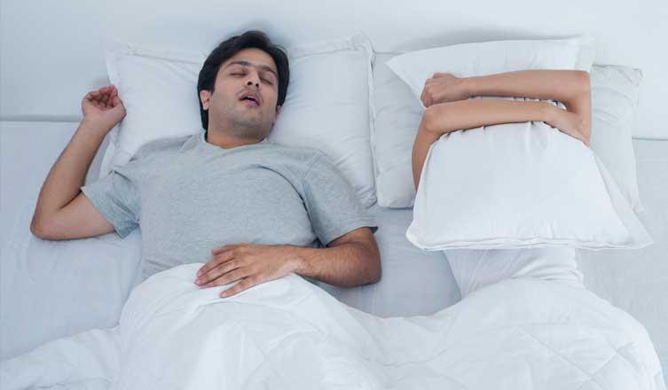 Apnea antes de la hora de dormir