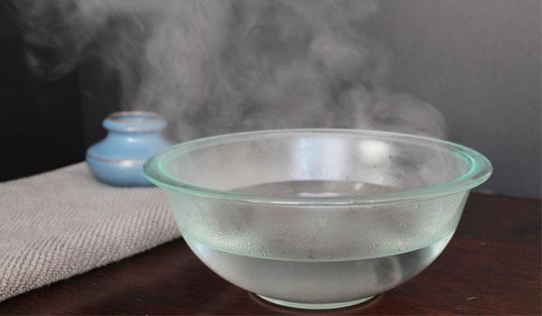 Inhalación con vapor