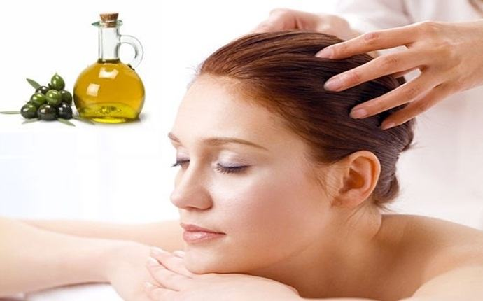 Masaje tibio de aceite de oliva