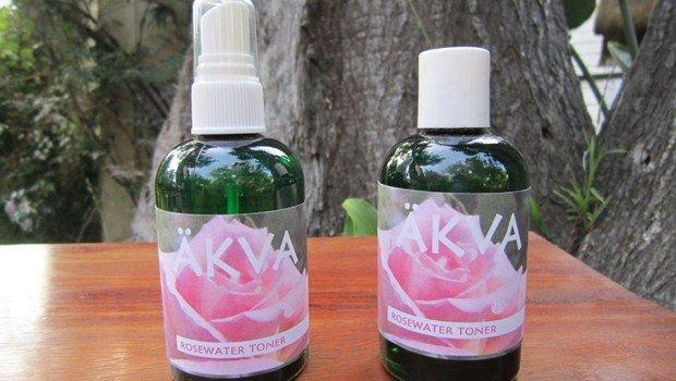 . Glicerina y agua de rosas
