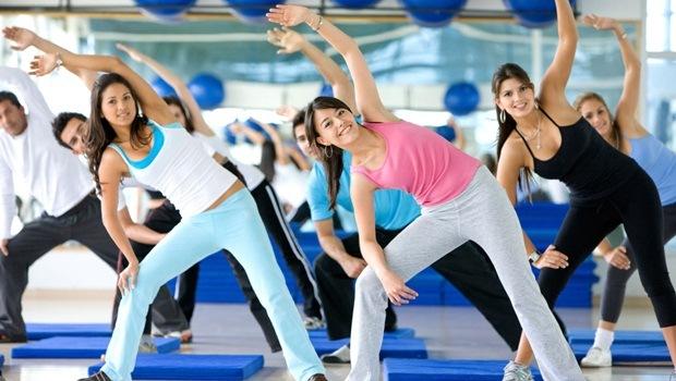 Haciendo aerobicos