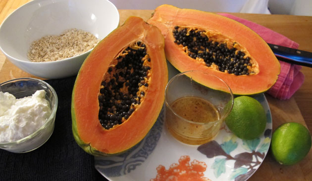 Máscara de papaya