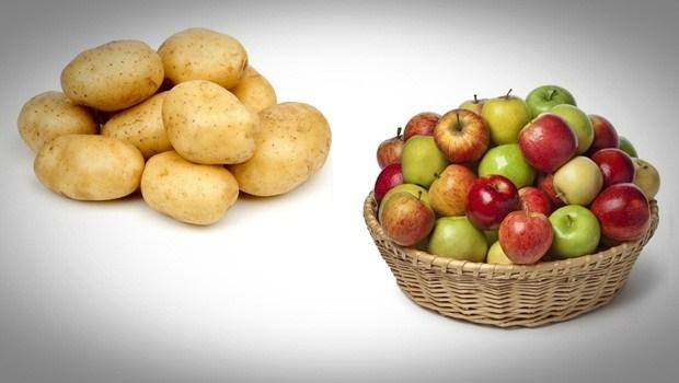 Patata y manzana