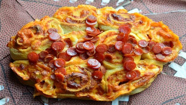 Pinwheels de pizza