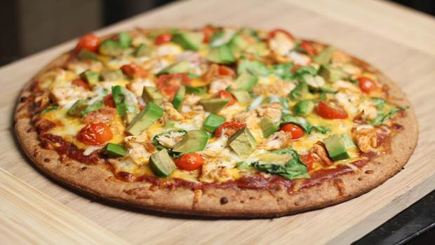 Pizza de aguacate