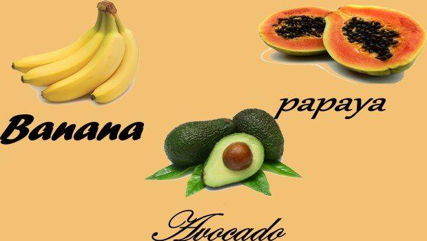 Plátano, Papaya