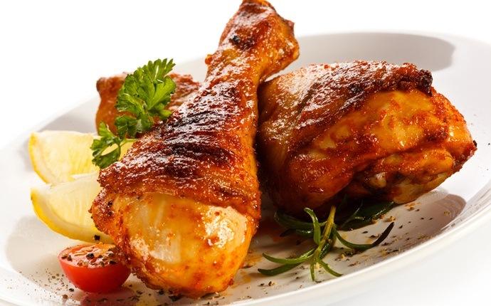 Pollo con miel y ajo