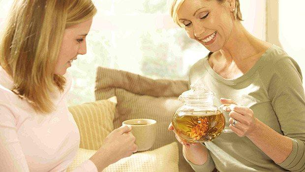 Beba té verde