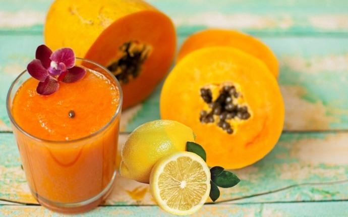 Papaya y limón