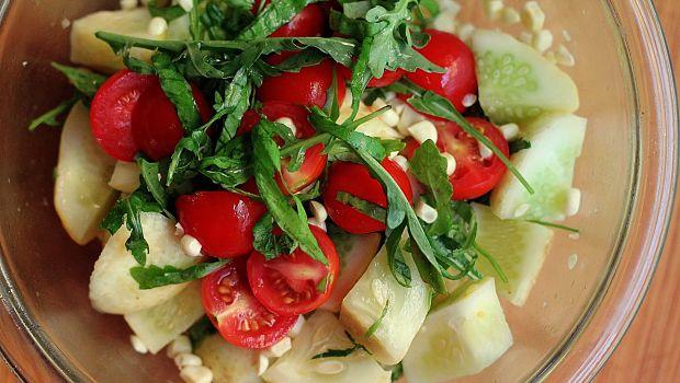 Pepino y tomate