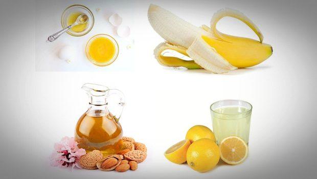 Plátano, aceite de almendras