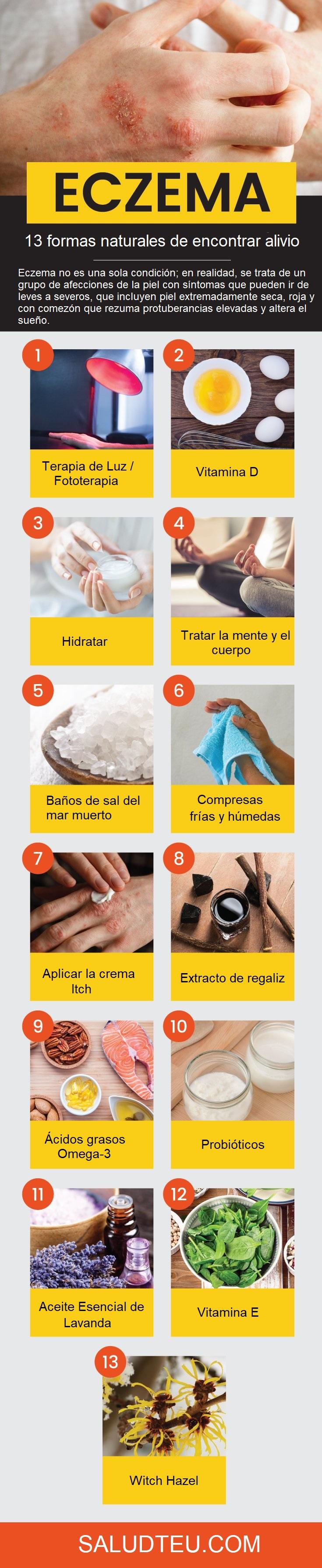 ¿Cómo deshacerse de eczema