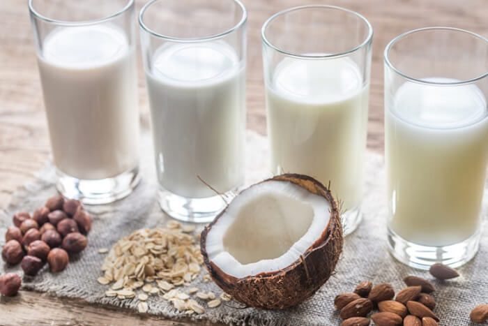 Lista de sustitutos de la leche